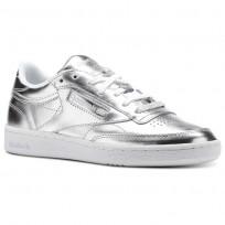 Reebok Club C 85 Shoes Womens Silver/White CM8686