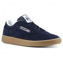 Reebok Club C 85 Shoes Mens Indoor-Collegiate Navy/White/Gum CN3386