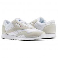 Reebok Classic Nylon Shoes Mens White/Light Grey 6390