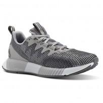 Reebok Fusion Flexweave Running Shoes Womens Tin Grey/Shark/Spirit White CN2858