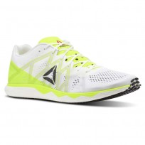 Reebok Floatride Run Running Shoes Mens White/Solar Yellow/Black/Steel CN7006