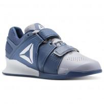 Reebok Legacy Lifter Shoes Womens Cloud Grey/Blue Slate/White CN4735