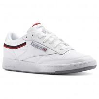 Reebok Club C 85 Shoes Mens Sptlt-White/Collegiate Navy/Excellent Red CN3761