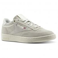 Reebok Club C 85 Shoes Mens Beige/Pebble/Chalk CM9296