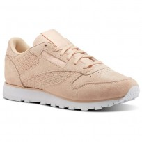 Chaussure Reebok Classic Leather Femme Rose/Blanche BT0004