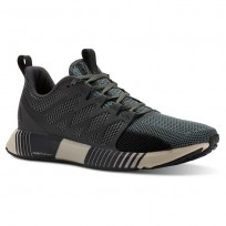 Reebok Fusion Flexweave Cage Running Shoes Mens Chalk Green/Coal/Black/Parchment CN2879