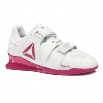 Reebok Legacy Lifter Shoes Womens Cfg-White/Rugged Rose/Silver CN8398