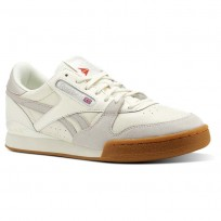 Reebok Phase 1 Pro Shoes Mens Gum-Classic White/Sandstone/Red CN3399