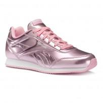 Reebok Royal Classic Jogger Shoes Girls Metallic/Light Pink/White CN5012