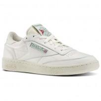 Reebok Club C 85 Shoes Mens Chalk/Paperwhite/Glen Green/Exclnt Red V67899