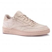 Reebok Club C 85 Shoes Mens Shell Pink/Gold Met BS7854
