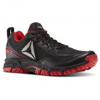 Reebok Ridgerider Trail 2.0 Walking Shoes Mens Black/Primal Red/Silver BD2246