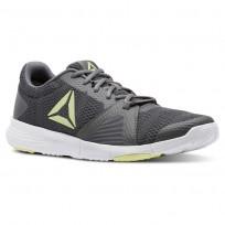 Reebok Flexile Training Shoes Mens Shark/Blk/Lemon Zest/Wht CN5361