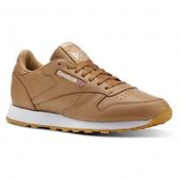 Reebok Classic Leather Shoes Mens Fg-Soft Camel/White/Gum CN5768