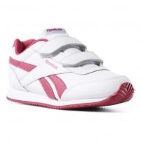 Reebok Royal Classic Jogger Shoes Girls White/Rugged Rose CN4937