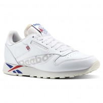 Reebok Classic Leather Shoes Mens Ativ-Wht/Darkroyal/Excellentred/Snowgry/Chalk DV4629