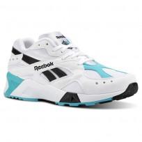 Reebok Aztrek Shoes Mens Og-White/Solid Teal/Black CN7067