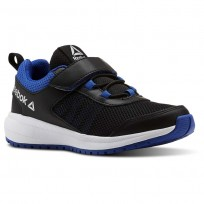 Reebok Road Supreme Running Shoes Boys Black/Vital Blue/White CN4205