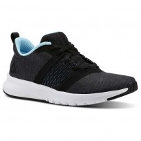 Reebok Print Running Shoes Womens Black/Ash Grey/Digital Blue/White CN2614
