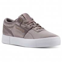 Reebok Workout Lo Shoes Womens Satin-Sandy Taupe/White CN5321