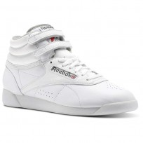 Reebok Freestyle HI Shoes Womens White/Carbon/Red/Grey CN0796
