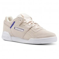 Reebok Workout Lo Shoes Womens Subtle Pop-Pale Pink/Ultima Purple/White CN5524