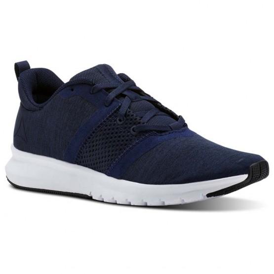 Reebok Print Running Shoes Mens Collegiate Navy/Black/Skull Grey/White CN2607