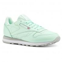 Reebok Classic Leather Shoes Mens Digi-Digital Green/White/Grey CN5382