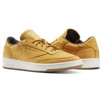 Reebok Club C 85 Shoes Mens Golden Wheat/Urban Grey/Chalk-Gum BS5205