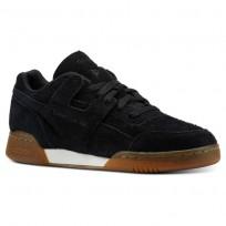 Reebok Workout Plus Shoes Mens Suede-Black/Gum CN3756
