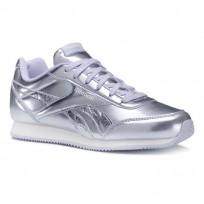 Reebok Royal Classic Jogger Shoes Girls Metallic/Purple Shadow/White CN5011
