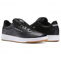 Reebok Club C 85 Shoes Mens Intense Black/White-Gum AR0458