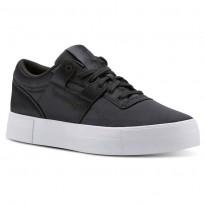 Reebok Workout Lo Shoes Womens Satin-Coal/White CN5322