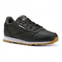 Reebok Classic Leather Shoes Kids Gum-Dark Cypress/White CN5614