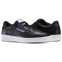 Reebok Club C 85 Shoes Mens Black/White/Vital Blue/Primal Red BS5213
