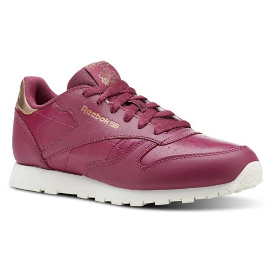 Reebok Classic Leather Shoes Girls Rm-Twisted Berry/Chalk CN5564