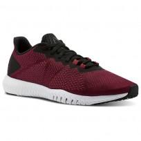 Reebok Flexagon Training Shoes Mens Rustic Wine/Black/Cranberry Red/White CN2592
