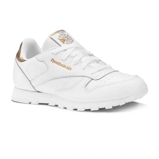 Reebok Classic Leather Shoes Girls Rm-Wht DV3617