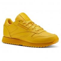 Reebok Classic Leather Shoes Womens Fierce Gold CN5123