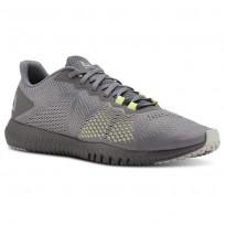 Reebok Flexagon Training Shoes Mens Shark/Skull Grey/Lemon Zest CN5192