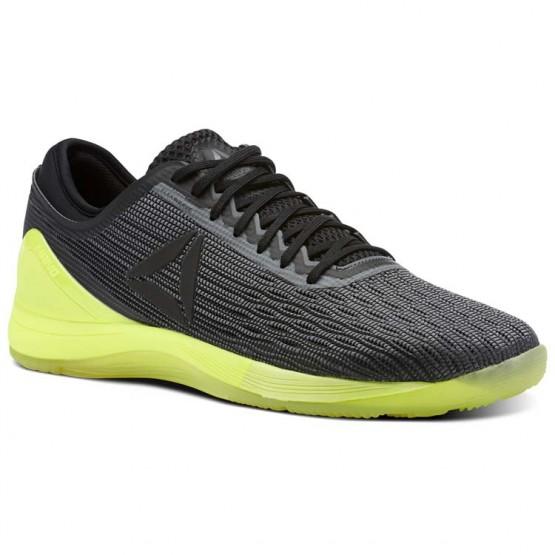 Reebok CrossFit Nano Shoes Mens Alloy/Black/Solar Yellow CN1034