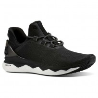 Reebok Floatride Run Smooth Running Shoes Mens Strtch-Black/White/Tin Grey CN4646