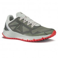 Reebok All Terrain Running Shoes Mens Green/Cloud Grey/Iron Stone/Dayglow Red/Metallic Grey BS9946