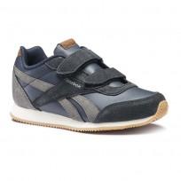 Reebok Royal Classic Jogger Shoes Boys Outdoor/Colleg Navy/Shark/Cream/Wht/Gum CN4814