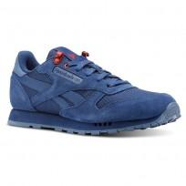 Reebok Classic Leather Shoes Boys Explore-Bunker Blue/Blue Slate/Primal Red CN4703
