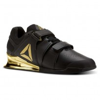 Reebok Legacy Lifter Shoes Mens Black/Gold BS5980