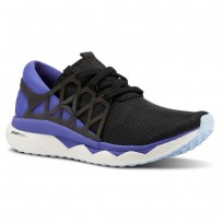 Reebok Floatride Run Running Shoes Womens Black/Ultima Purple/White/Dreamy Blue CN5240