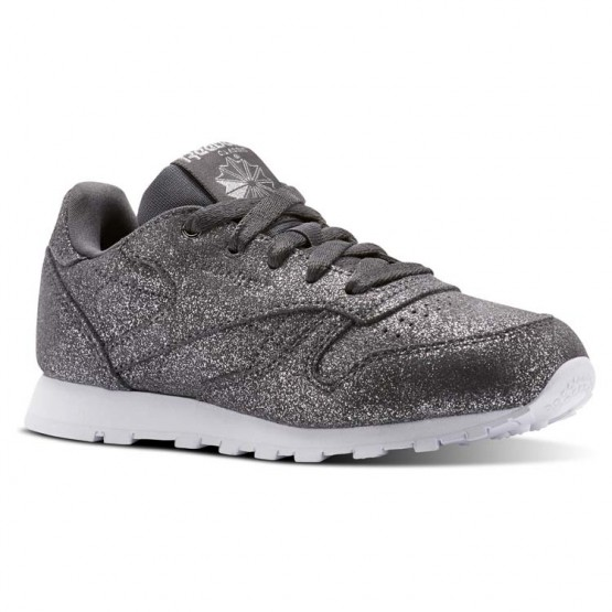 Reebok Classic Leather Shoes Girls Ms-Pewter/Ash Grey/White CN5588