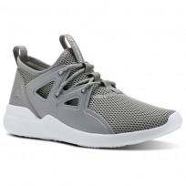 Reebok Cardio Motion Studio Shoes Womens Tin Grey/Wht/Lemon Zest CN4863