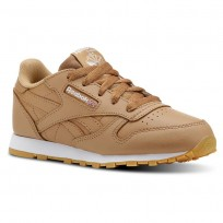 Reebok Classic Leather Shoes Kids Gum-Soft Camel/White CN5611